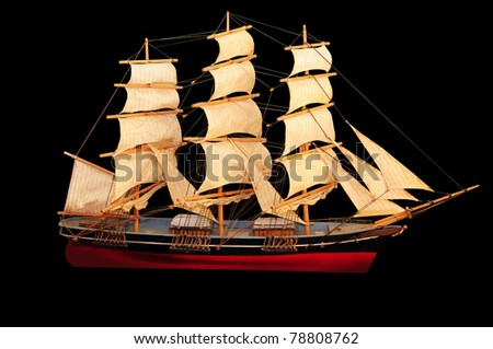 Clipper Ship - stock photo