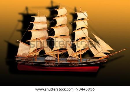 Clipper Ship - stock photo