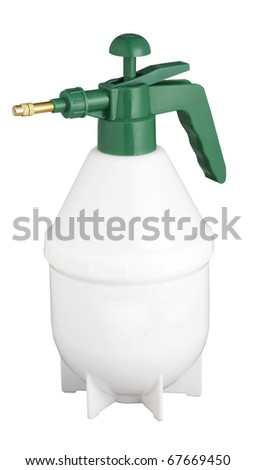 clipping path stock image of  spray container - stock photo