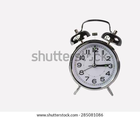 clock alarm tree 3 o'clock - isolated - stock photo