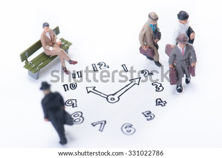 Clock and businessman