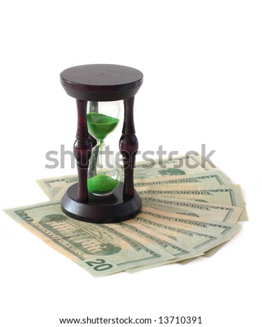 clock and  money - stock photo
