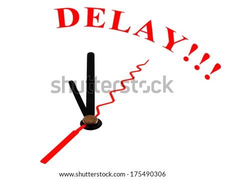 clock and text Delay - stock photo