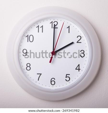 clock at 2 o'clock - stock photo