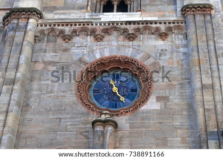 clock at Stephansdom cathedral in Vienna Austria.