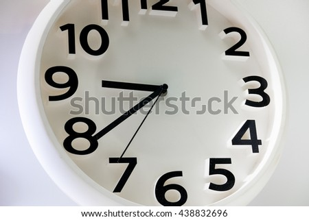 Clock close up on isolated background