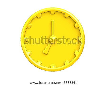 clock coin - stock photo