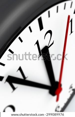 clock concept 5 to 12 - stock photo