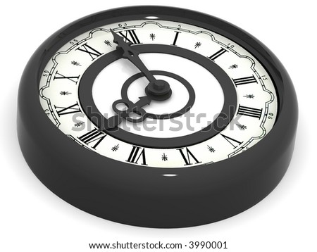 Clock. eight o'clock. 3d