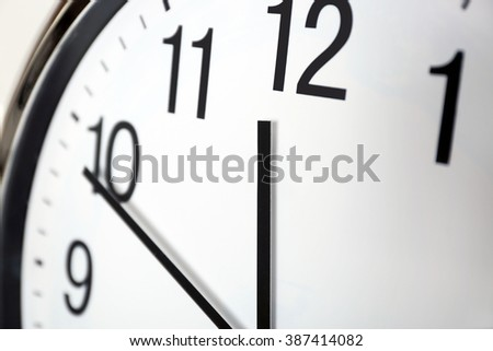 Clock face closeup - stock photo