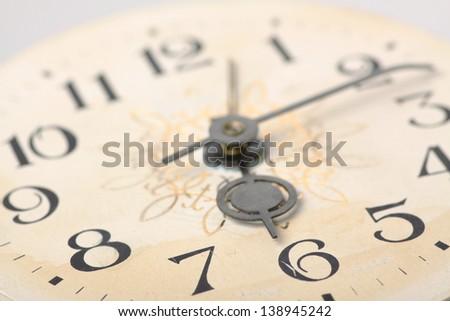 clock face, hands of the clock, macro - stock photo