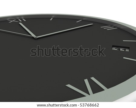 Clock face isolated on white background. High quality 3d render. - stock photo