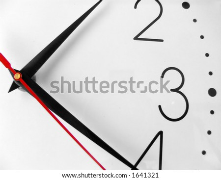 Clock Hands - stock photo