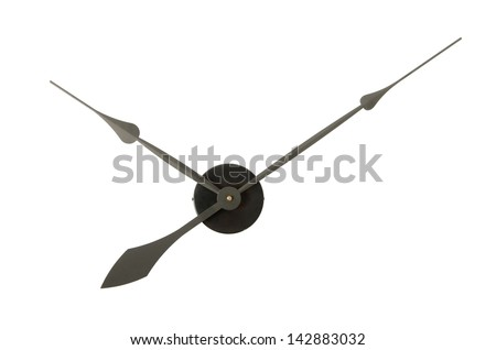 Clock Hands isolated on a white background - stock photo