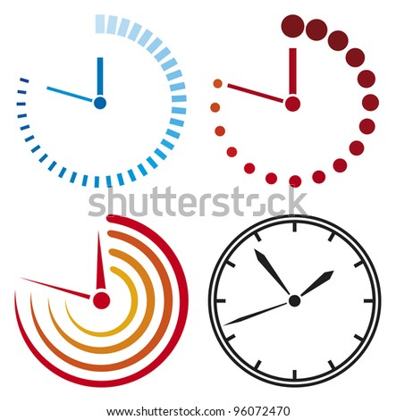 Clock icons - stock photo