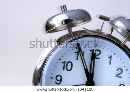 clock in motion - stock photo