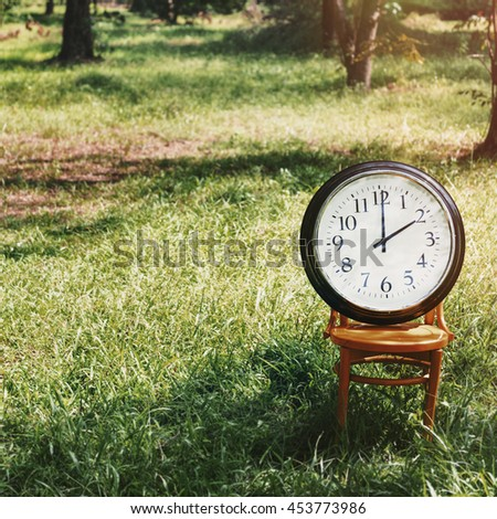 Clock Instrument of Time Appointment Management Concept - stock photo