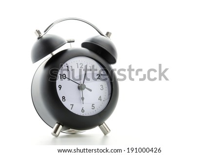 Clock isolated on white - stock photo