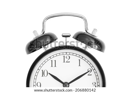 clock isolated on white background