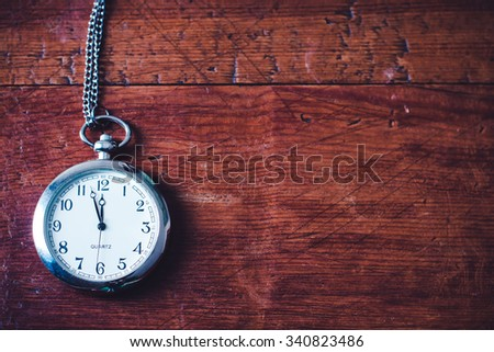 Clock. New year celebration time. Eve of midnight hour. December holiday. Old vintage watch. Number countdown. Celebrate festive background. Twelve hours. Happy minute. - stock photo