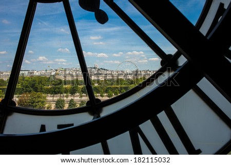 Clock of Museum D'Orsay  - stock photo