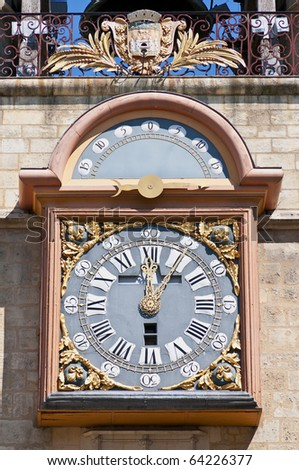Clock of the Grosse Cloche door at Bordeaux, France - stock photo