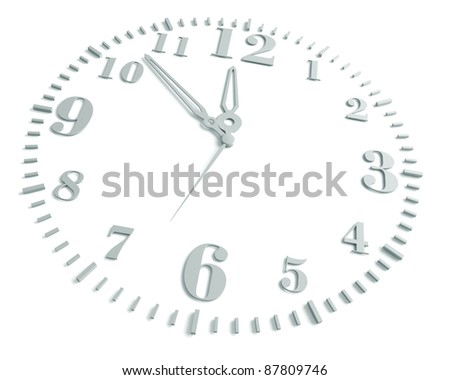 clock, on a white background, 3d render - stock photo