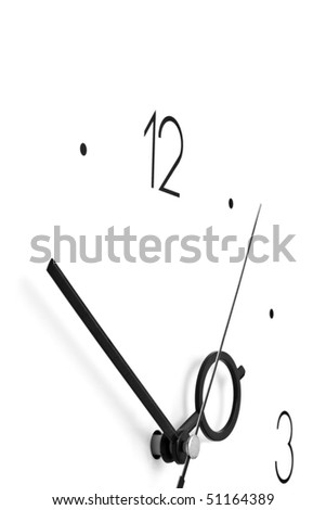 clock on a white background for your illustrations - stock photo