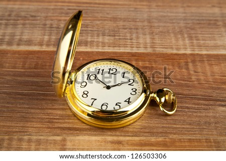 clock on a wooden table