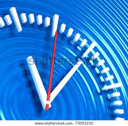 Clock on Ripple - stock photo