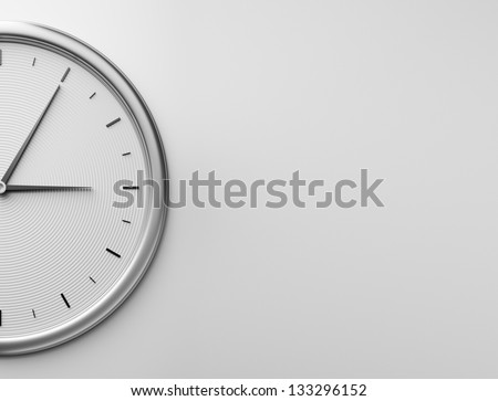 clock on the wall - stock photo