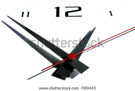 Clock on White