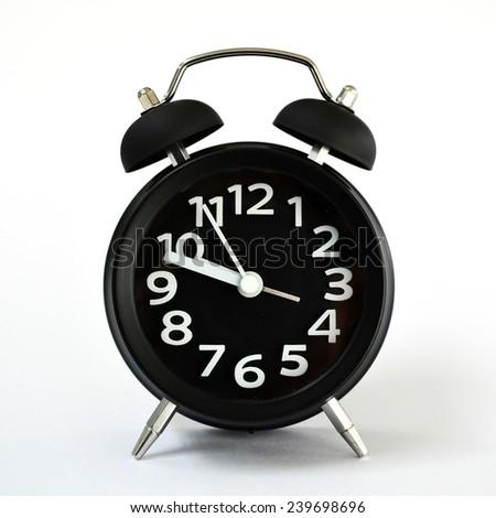 Clock on white background - stock photo