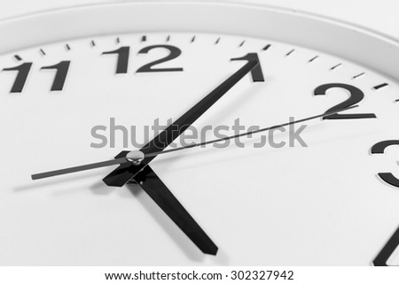 Clock or time abstract background.clock with needles,Black and white concept. - stock photo