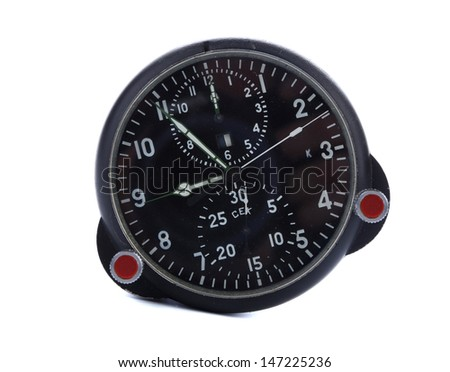Clock removed from the Russian helicopter. - stock photo