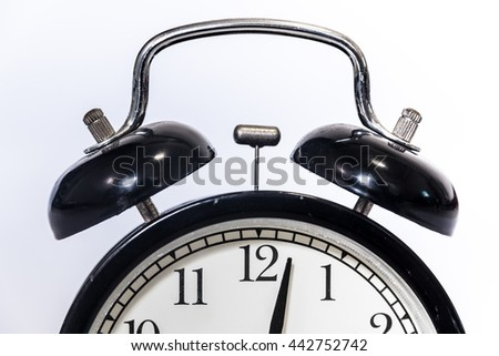 clock's bells on a white background