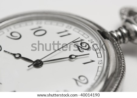 clock showing time - stock photo