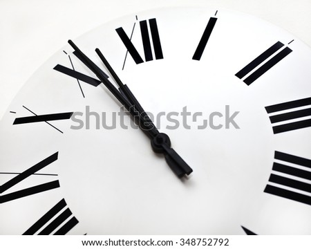 Clock showing time, Time - stock photo