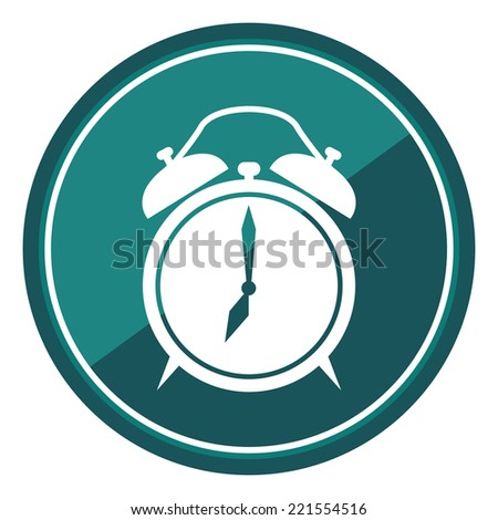 Clock Sign on Blue Circle Icon, Button, Label Isolated on White  - stock photo