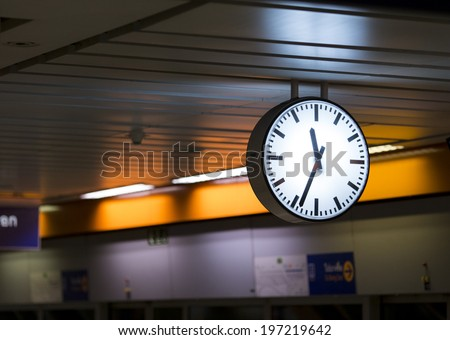 Clock Station - stock photo