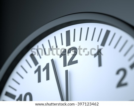 Clock , Time concept , 3d render - stock photo