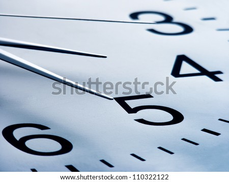 Clock. Time concept. Macro image. - stock photo