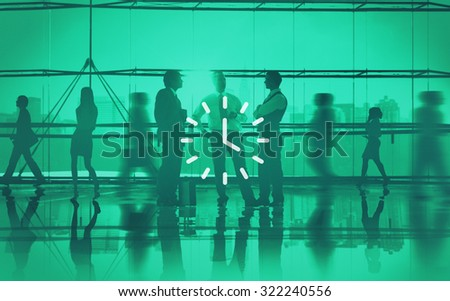 Clock Time Timer Orgarnization Hour Minute Concept - stock photo