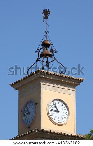 Clock Tower in Palma de Mallorca, Spain - stock photo
