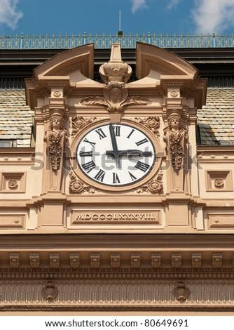 Clock Tower, Prague, The Czech Republic - stock photo