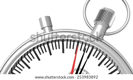 clock watch - one minute before - stock photo