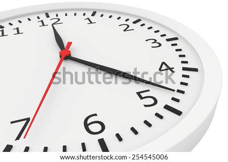 clock with arrows and numbers. abstract background. 3d rendering - stock photo