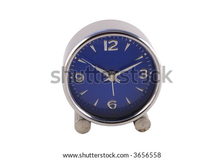 clock with blue face - stock photo