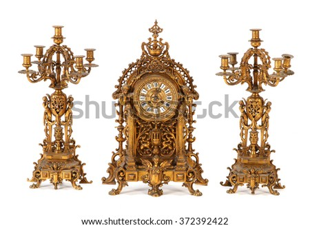 Clock with chandeliers