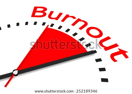 clock with red seconds hand area burnout 3d illustration  - stock photo